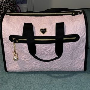 Betsey Johnson Floral Pink Weekender Bag